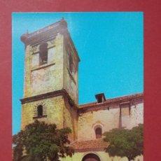 Postales: POSTAL CIUDAD REAL - VILLARRUBIA DE LOS OJOS, FACHADA Y TORRE DE LA IGLESIA .. L256. Lote 173766759
