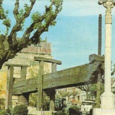 Postales: VILLAGARCÍA DEL LLANO. MONUMENTO AL VINO. PRENSA DEL SIGLO XVI. CUENCA. 1966.. Lote 175682528