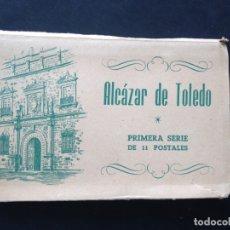 Postales: ANTIGUO BLOCK ACORDEON POSTALES ALCAZAR DE TOLEDO. PRIMERA SERIE DE 11 POSTALES. FOURNIER. Lote 176298600
