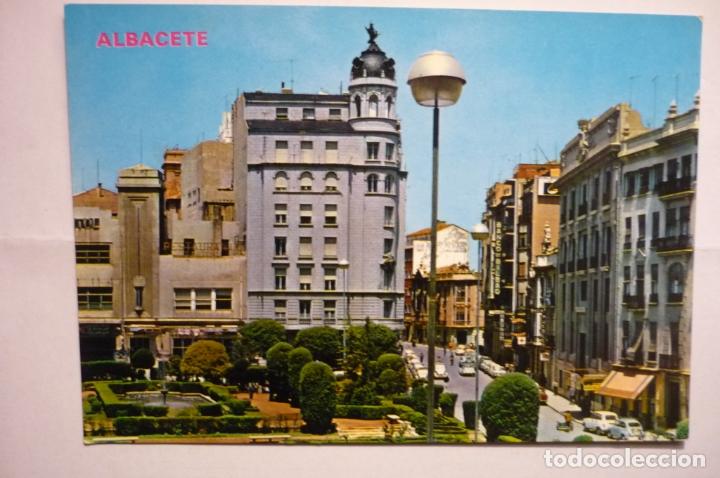 POSTAL ALBACETE - PL.CAUDILLO (Postales - España - Castilla la Mancha Moderna (desde 1940))