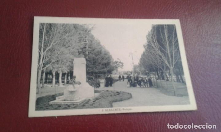ALBACETE Nº 6 PARQUE -L.ROISIN FOT.- PERFECTO ESTADO SIN CIRCULAR (Postales - España - Castilla la Mancha Moderna (desde 1940))