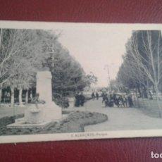 Postales: ALBACETE Nº 6 PARQUE -L.ROISIN FOT.- PERFECTO ESTADO SIN CIRCULAR . Lote 177658534