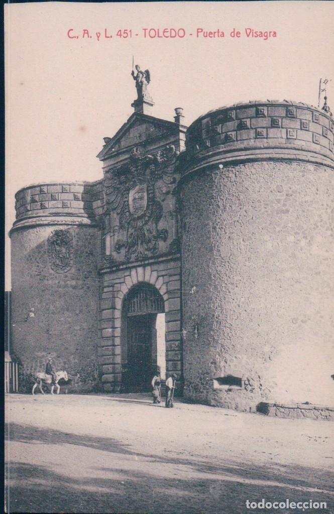 POSTAL TOLEDO - PUERTA DE VISAGRA - C A Y L 451 - CASTAÑEIRA (Postales - España - Castilla La Mancha Antigua (hasta 1939))