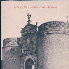 Cartes Postales: POSTAL TOLEDO - PUERTA DE VISAGRA - C A Y L 451 - CASTAÑEIRA. Lote 178025159