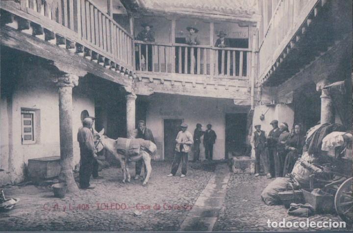 POSTAL TOLEDO - CASA DE CERVANTES - CASTAÑEIRA, ALVAREZ Y L - NUM 408 (Postales - España - Castilla La Mancha Antigua (hasta 1939))