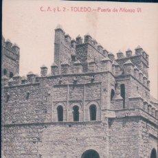 Cartes Postales: POSTAL TOLEDO - PUERTA DE ALFONSO VI - CASTAÑEIRA - C A Y L 2. Lote 178172457