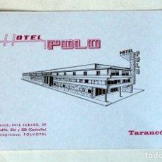 Postales: TARJETA POSTAL PUBLICITARIA: HOTEL POLO, TARANCÓN ( CUENCA). Lote 178355550
