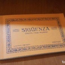 Postales: BLOC POSTAL DE SIGUENZA, CON 25 POSTALES EN AZUL, EDICION CASA RODRIGO, FACSIMIL DE RAYUELA LIBROS. Lote 179158386