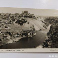 Postales: TOLEDO-VISTA GENERAL Y TAJO-411-FOTOGRAFICA ROISIN-VER REVERSO-(63.024). Lote 179330182