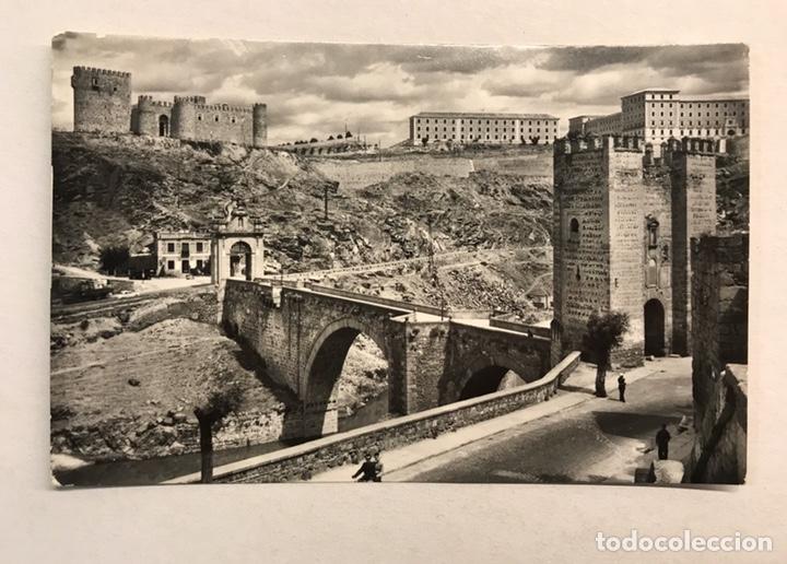 TOLEDO. POSTAL. NO. 12, PUENTE DE ALCÁNTARA. EDITA: ED. DOMÍNGUEZ. FOTO J. CEBOLLERO (Postales - España - Castilla la Mancha Moderna (desde 1940))
