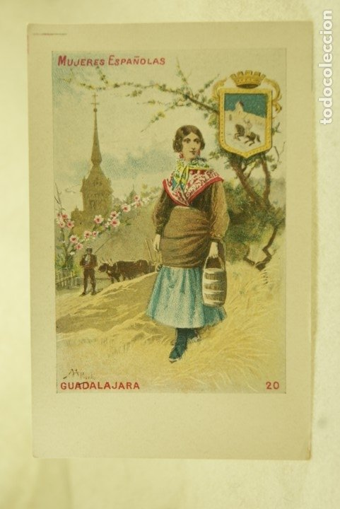 MUJERES ESPAÑOLAS SATURNINO CALLEJA GUADALAJARA Nº20 SIN DIVIDIR (Postales - España - Castilla La Mancha Antigua (hasta 1939))