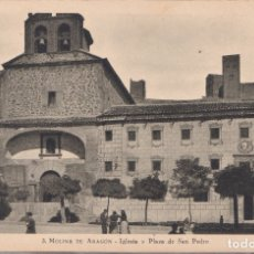 Postales: MOLINA DE ARAGON (GUADALAJARA) - IGLESIA Y PLAZA DE SAN PEDRO. Lote 181963171