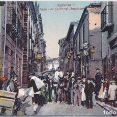 Postales: SIGUENZA (GUADALAJARA) - CALLE DEL CARDENAL MENDOZA. Lote 181963651