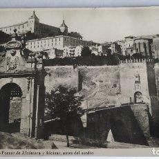 Postales: TOLEDO. PUENTE DE ALCÁNTARA Y ALCAZAR,ANTES DEL ASEDIO. Lote 182084037