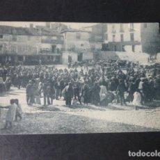 Postales: BRIHUEGA GUADALAJARA MERCADO EN EL COSO. Lote 182296946