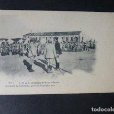 Postales: TOLEDO ACADEMIA INFANTERIA ALFONSO XIII EN EL CAMPAMANTO DE LOS ALIJARES GABINETE FOTOGRAFICO 1911. Lote 182319062