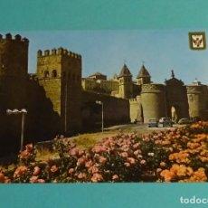 Postales: TOLEDO. MURALLAS Y PUERTA DE BISAGRA. DOMÍNGUEZ - ESCUDO DE ORO. Lote 183330310