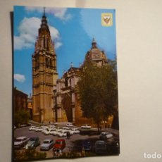 Postales: POSTAL TOLEDO - TORRE CATEDRAL .-COCHES CM. Lote 183344295