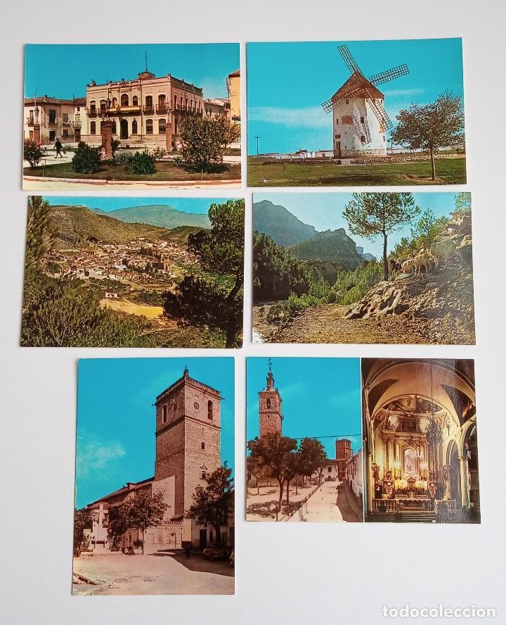 LOTE DE 6 POSTALES. QUINTANAR DE LA ORDEN (TOLEDO), YESTE, TUS (ALBECETE), VALDEPEÑAS (CIUDAD REAL) (Postales - España - Castilla la Mancha Moderna (desde 1940))