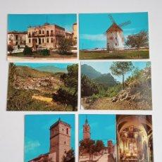 Postales: LOTE DE 6 POSTALES. QUINTANAR DE LA ORDEN (TOLEDO), YESTE, TUS (ALBECETE), VALDEPEÑAS (CIUDAD REAL). Lote 185694390