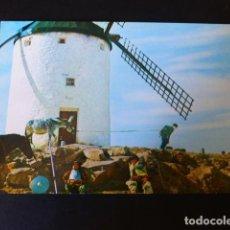 Postales: CONSUEGRA TOLEDO MOLINO DE VIENTO DON QUIJOTE Y SANCHO PANZA. Lote 186182275