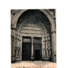 Postales: TOLEDO.- CATEDRAL. PUERTA DEL RELOJ.. Lote 187307123