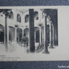 Postales: TOLEDO HOTEL CASTILLA - HAUSER 1413 POSTAL ANTERIOR A 1905. Lote 188698678