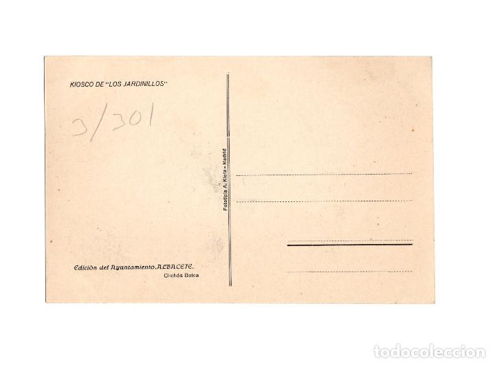 Postales: ALBACETE.- KIOSCO DE LOS JARDINILLOS. - Foto 2 - 190804852