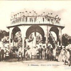Postales: ALMANSA (ALBACETE) KIOSCO DE LA GLORIETA. (J.LACOSTE) MUY RARA.. Lote 194113600
