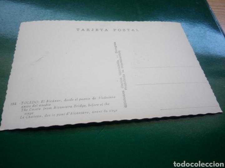 Postales: Antigua postal de Toledo. El Alcázar. Años 50 - Foto 2 - 194199738