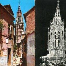 Postales: COLECCION POSTALES HISTORICAS-TURISTICAS DE LA CATEDRAL DE TOLEDO (S.XX, AÑOS 60 A 70). Lote 194641362