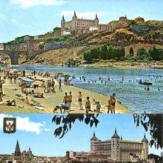 Postales: COLECCION POSTALES HISTORICAS-TURISTICAS PANORAMICAS DE TOLEDO (S.XX, AÑOS 60 A 70). Lote 194641780