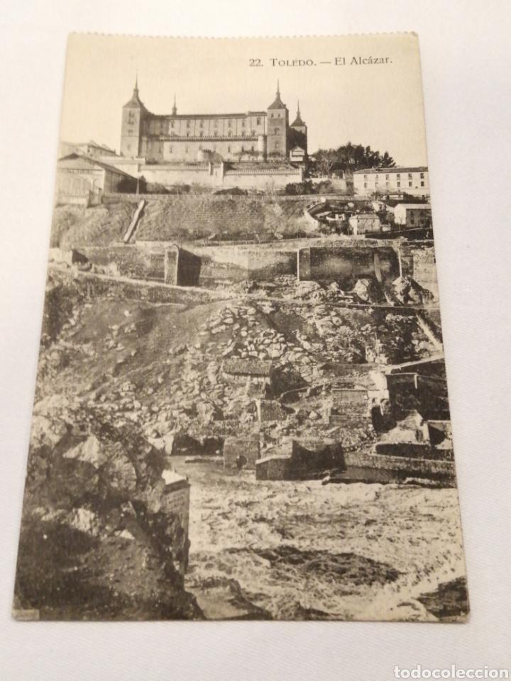 22. TOLEDO. EL ALCAZAR. POSTAL ANTIGUA. CIRCA 1920. (Postales - España - Castilla La Mancha Antigua (hasta 1939))