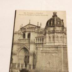 Postales: 62. TOLEDO. - CATEDRAL: PUERTA DEL PERDÓN Y CAPILLA MURÁRABE. HELIOTIPIA ARTÍSTICA ESPAÑOLA.. Lote 195002040