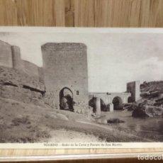 Postales: POSTAL DE TOLEDO.BAÑO DE LA CAVA Y PUENTE DE SAN MARTÍN.GRAFOS.. Lote 195244146