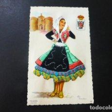 Postales: TOLEDO MUJER TOLEDANA TRAJE BORDADO POSTAL. Lote 196296178