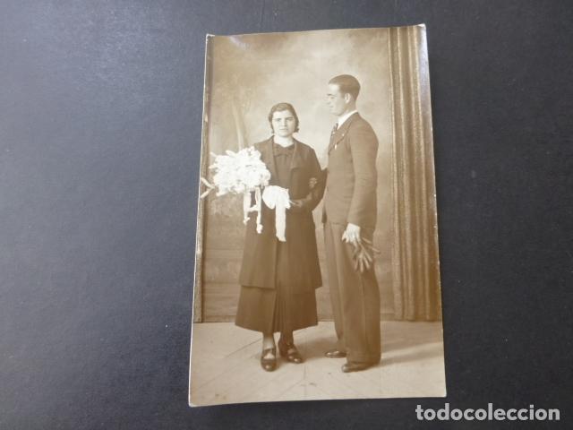 GUADALAJARA RETRATO DE BODA RECIEN CASADOS REYES FOTOGRAFO AÑOS 20 POSTAL FOTOGRAFICA (Postales - España - Castilla La Mancha Antigua (hasta 1939))