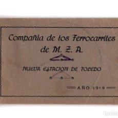 Postales: TOLEDO.- COMPAÑIA DE FERROCARRILES. NUEVA ESTACIÓN. BLOCK 12 POSTALES.. Lote 197139561