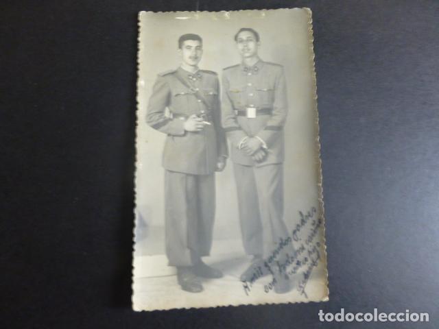 GUADALAJARA RETRATO DE 2 MILITARES POSTAL FOTOGRAFICA REYES FOTOGRAFO 1946 (Postales - España - Castilla La Mancha Antigua (hasta 1939))