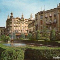 Postales: ALBACETE LAGO DE LA PLAZA CAUDILLO. Lote 197333035