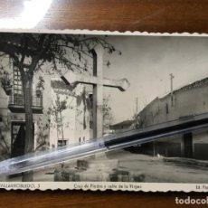 Cartes Postales: ALBACETE,POSTAL DE VILLARROBLEDO, EDIC. PAPELERÍA CERVANTES.CRUZ DE PIEDRA CALLE DE LA VIRGEN. VILR. Lote 198060381