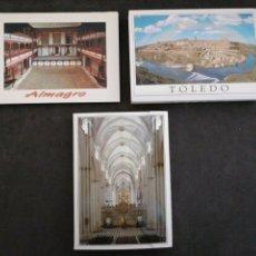 Postales: TOLEDO, ALMAGRO, LOTE 3 LIBRITOS. Lote 199632366