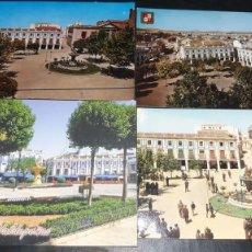 Postales: POSTALES ANTIGUAS DE VALDEPEÑAS CIUDAD REAL PANORAMICAS DE LA PLAZA DE ESPAÑA LOTE 4 UDS.. Lote 199882556