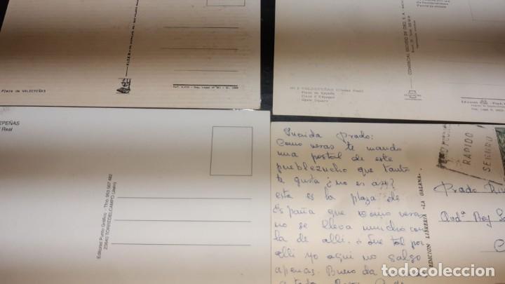 Postales: POSTALES ANTIGUAS DE VALDEPEÑAS CIUDAD REAL PANORAMICAS DE LA PLAZA DE ESPAÑA LOTE 4 UDS. - Foto 3 - 199882556