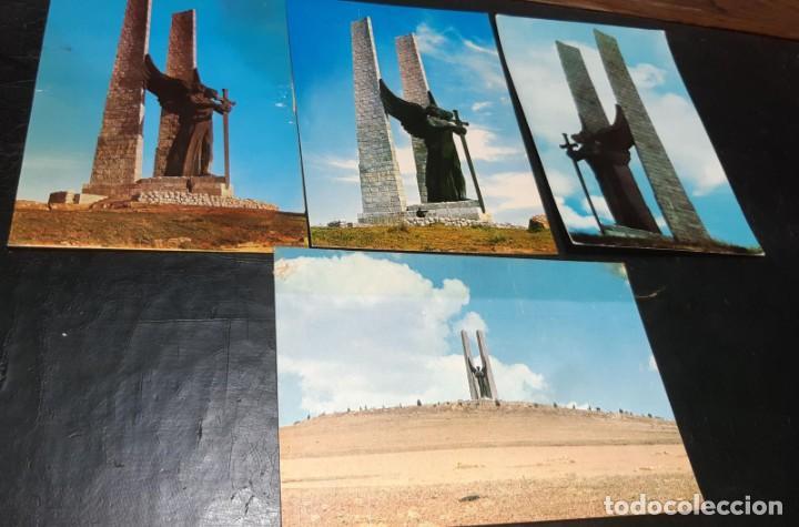 POSTALES ANTIGUAS DE VALDEPEÑAS CIUDAD REAL LOTE DE 4 UDS. MONUMENTO DEL ANGEL DE LA VICTORIA DIFER (Postales - España - Castilla La Mancha Antigua (hasta 1939))