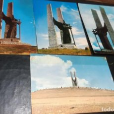 Postales: POSTALES ANTIGUAS DE VALDEPEÑAS CIUDAD REAL LOTE DE 4 UDS. MONUMENTO DEL ANGEL DE LA VICTORIA DIFER . Lote 199882797