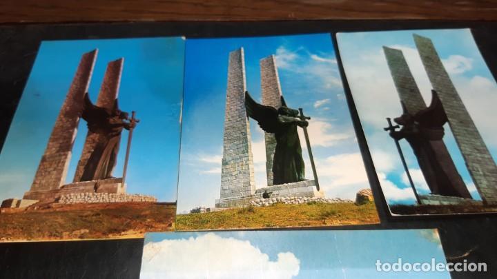 Postales: POSTALES ANTIGUAS DE VALDEPEÑAS CIUDAD REAL LOTE DE 4 UDS. MONUMENTO DEL ANGEL DE LA VICTORIA DIFER - Foto 2 - 199882797