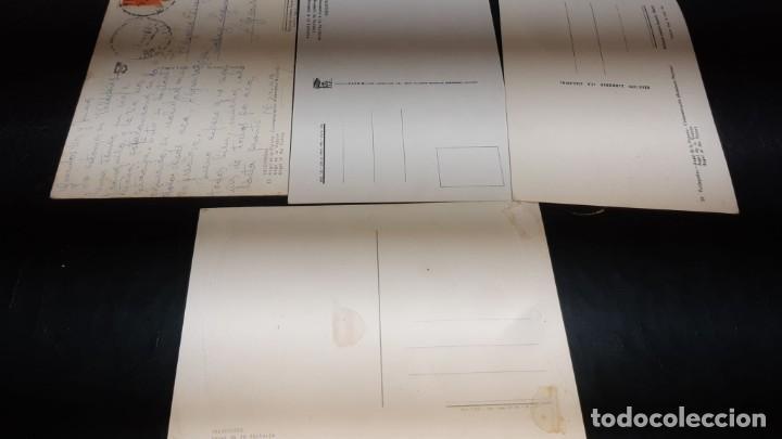 Postales: POSTALES ANTIGUAS DE VALDEPEÑAS CIUDAD REAL LOTE DE 4 UDS. MONUMENTO DEL ANGEL DE LA VICTORIA DIFER - Foto 4 - 199882797