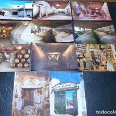 Postales: POSTALES ANTIGUAS DE VALDEPEÑAS CIUDAD REAL LOTE DE 11 UDS. BODEGAS - BODEGONES Y COCINAS TIPICAS. Lote 199936580