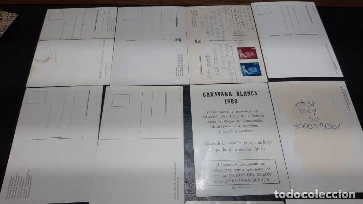 Postales: POSTALES ANTIGUAS DE VALDEPEÑAS CIUDAD REAL LOTE DE 10 UDS. VIRGEN DE CONSOLACION - NTR. PADRE JESUS - Foto 5 - 199936823